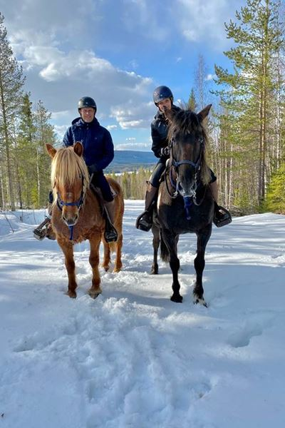 Trail riding in winter